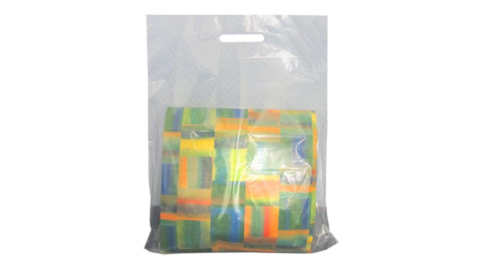 transparente Plastiktaschen und Kunststofftaschen in transparent mit Eingriff oder Griffloch DKT Tragetaschen Plastiktüten