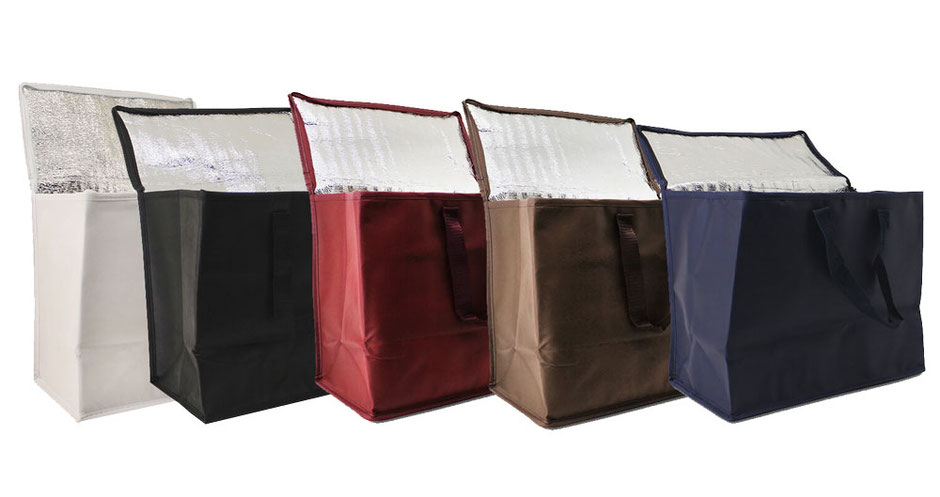 Kühltaschen von Leicht Bags in verschiedenen Farben wie weiß schwarz rot bordeaux braun und blau günstig kaufen