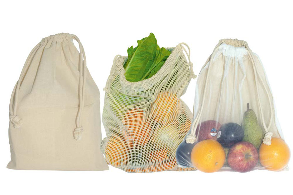 Netz Tasche aus Baumwolle 38 x 42 cm mit Netz aus Baumwolle oder Nylon