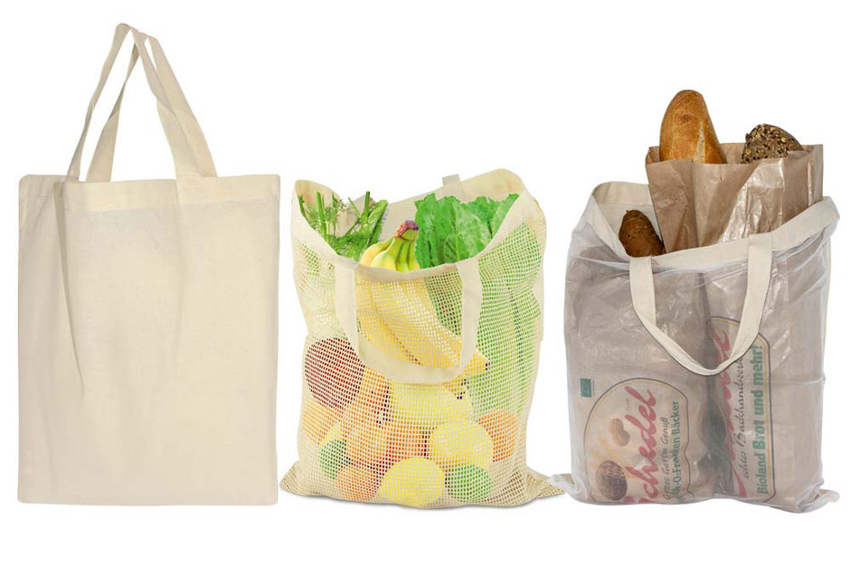 Netztaschen und Tragetaschen mit Netz für Obst Gemüse Backwaren als Werbetasche mit Baumwollnetz und Nylonnetz günstig kaufen