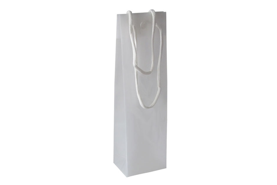 Flaschentaschen mit Druckknopf Druckverschluss weiß transparent für eine 1 oder drei 3 Flaschen günstig kaufen