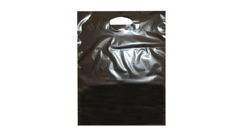 Folientaschen schwarz DKT Grifflochtaschen auch unter Grifflochtragetaschen bekannt mit Griff Blattverstärkung Versärkung