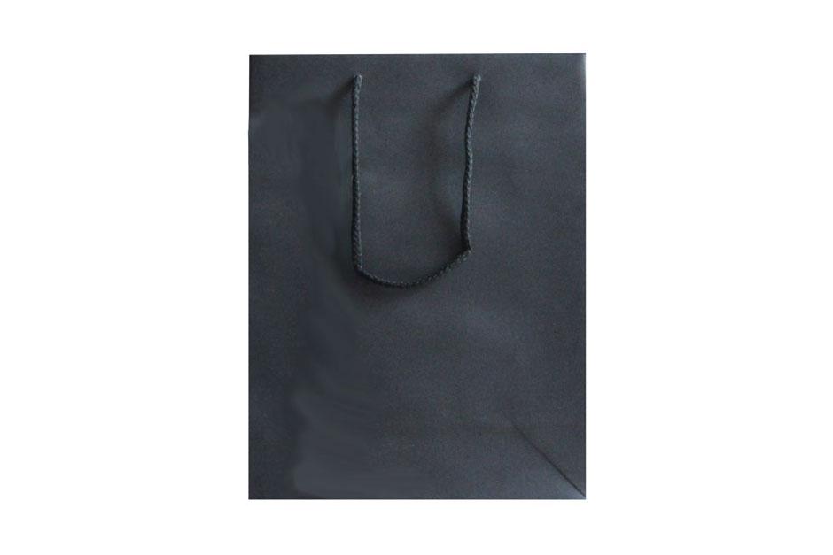 Weintaschen Style in schwarz für 3 Flaschen Wein mit Kordel aus Baumwolle in Taschen Farbe