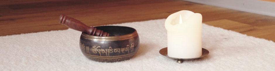 Yoga, Klangschale, Tibet, Kerze