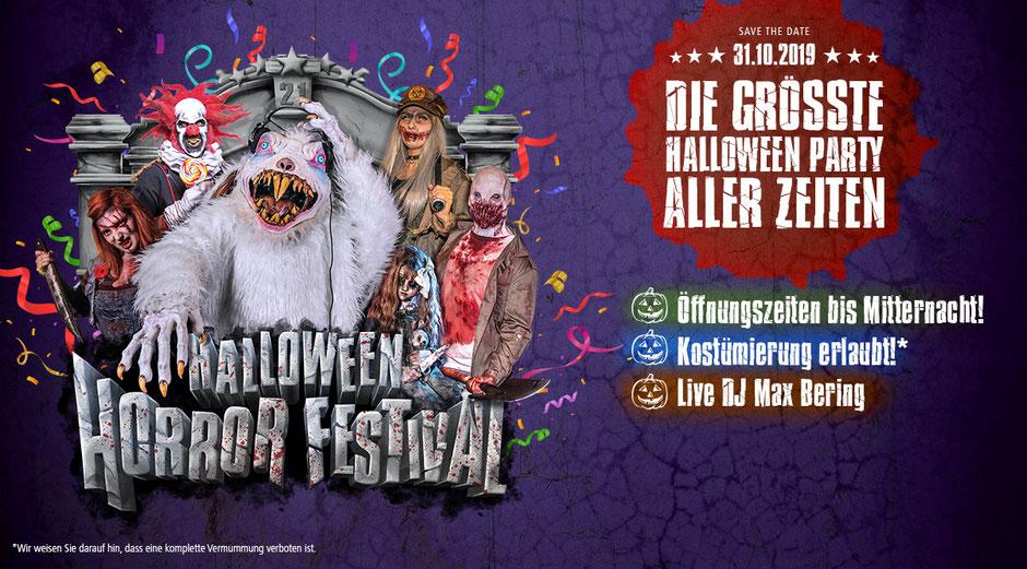 movie park germany halloween horror festival party