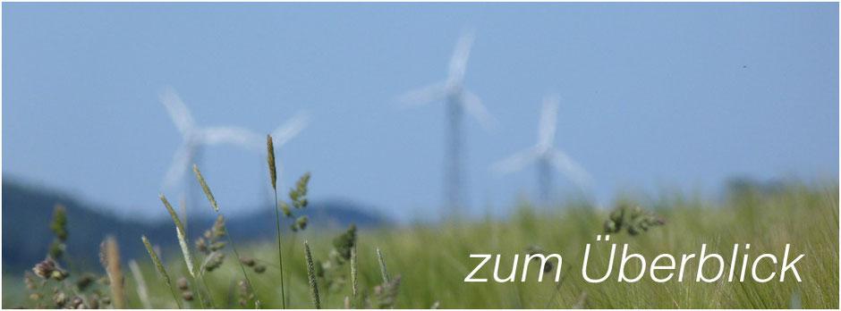 viele Turbinen im verschmierten Hintergrund | Auflistung der Themen