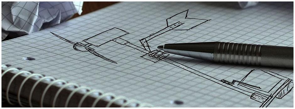 Skizze des Windrades | abgedeckter Stift | Idee für ein neues Maturaarbeitsprojekt