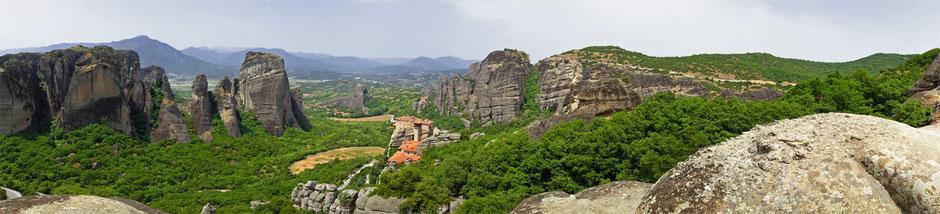 Photo panoramique des Météores en Grèce - Dominique MAYER - Photographie - www.dominique-mayer.com