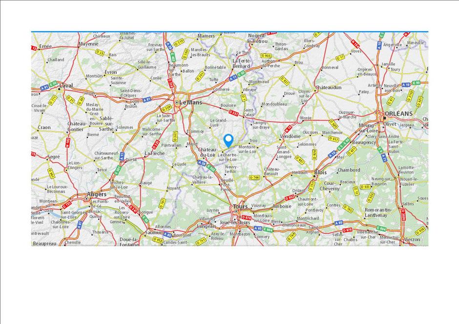 Ruillé sur Loir à 45 km du Mans, de Tours et de Vendôme
