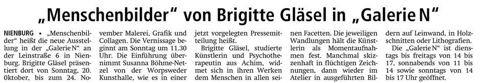 Pressebericht Kreiszeitung Syke vom 17. Oktober 2013