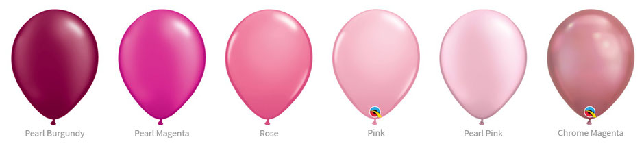 Ballon Luftballon Latexballon Qualatex Premium Qualität Bio Eco kompostierbar rosa weinrot pink magenta chrome pearl glanz Heliumballon mit Helium Versand verschicken befüllt