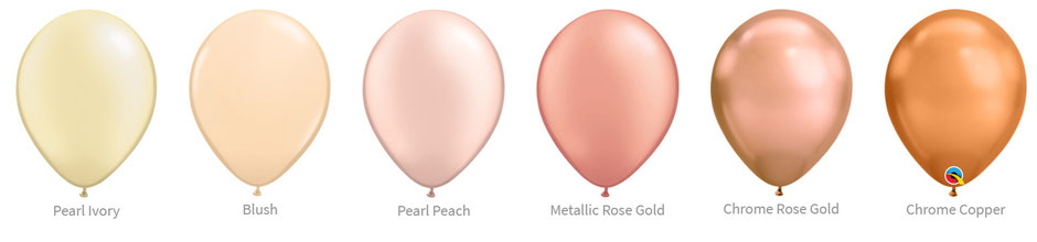 Ballon Luftballon Latexballon Qualatex Premium Qualität Bio Eco kompostierbar ivory champagner beige blush hautfarben peach pfirsich rose rosegold copper  chrome pearl glanz Heliumballon mit Helium Versand verschicken befüllt