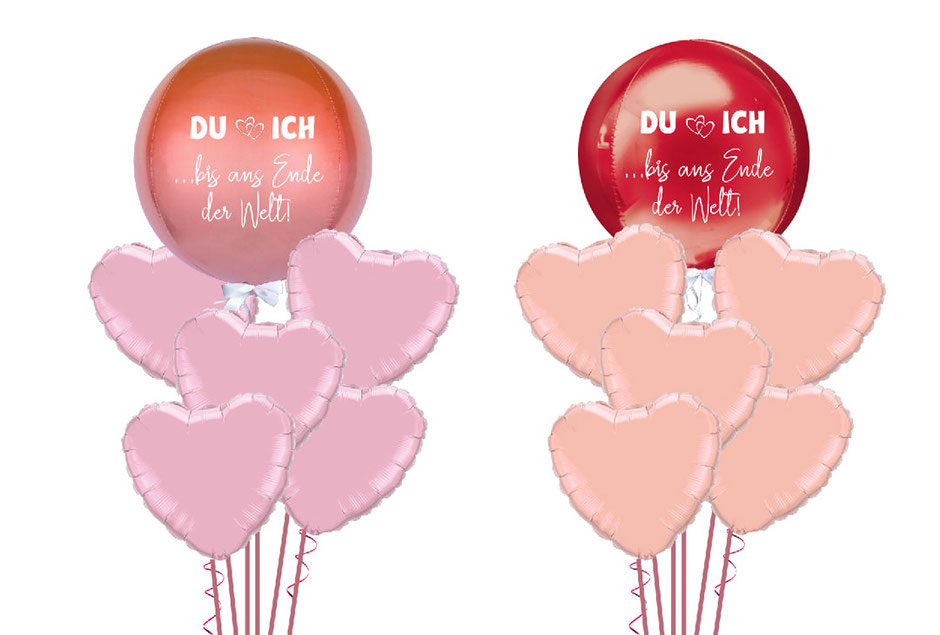 Luftballon Ballon Heliumballon Heliumherz Heiratsantrag Hochzeitsantrag Antrag Paar Versand Überraschung Kugelballon personalisiert beschriftet Personalisierung Namen Brautpaar Paar Du und Ich bis ans Ende der Welt Liebe Hochzeit Heirat Helium rot rose