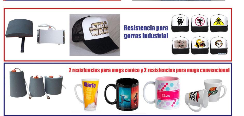 Termofijacion de mugs, gorras y camisetas