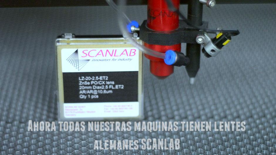 espejo y lente para maquinas laser