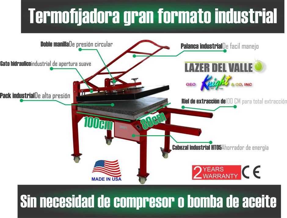 sublimadora industrial 100x80 americana