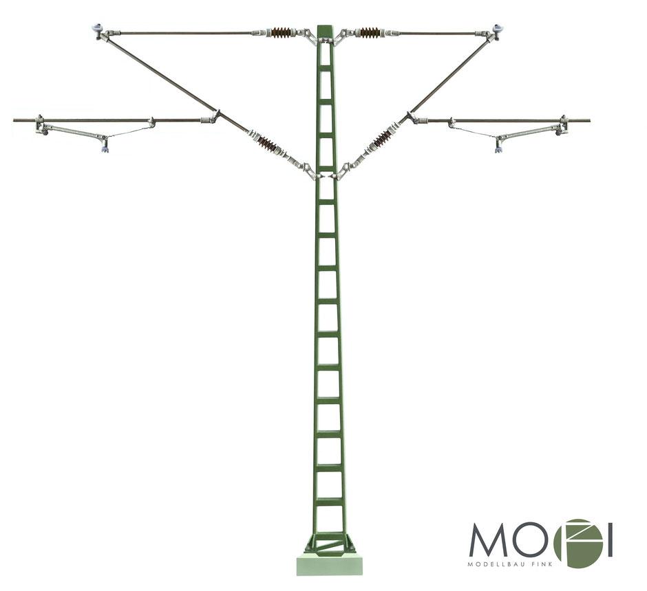 Die detailreiche und hochwertige Oberleitung für die Modellbahn in Spur-G von MOFI für Piko und LGB.