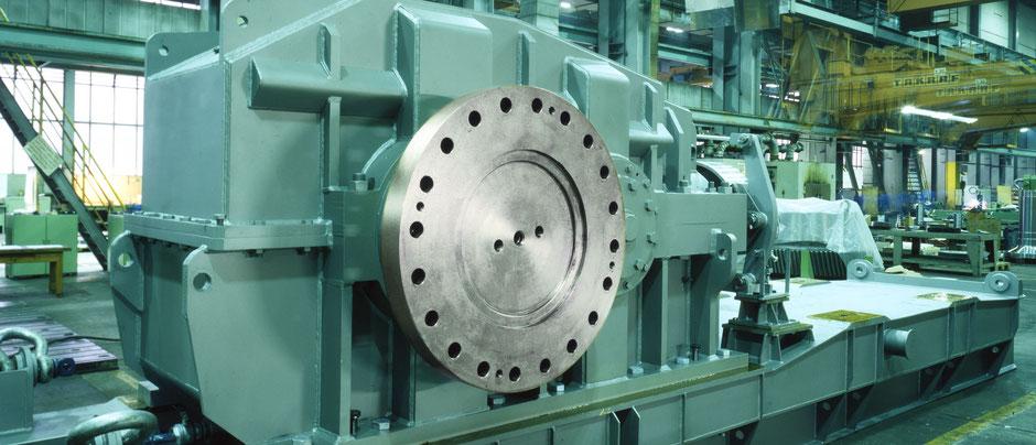 Bandgetriebe in der Montage, Getriebetechnik Dessau