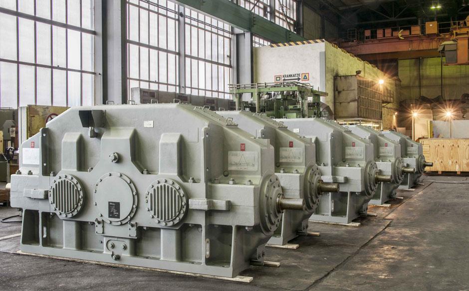 Großgetriebe, Schiffsgetriebe, Bandgetriebe im Versand, Getriebetechnik Dessau