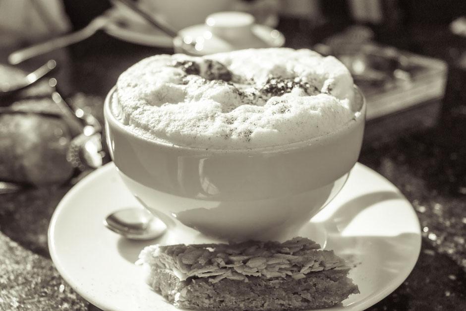 Kaffeegenuss-Cappuccino
