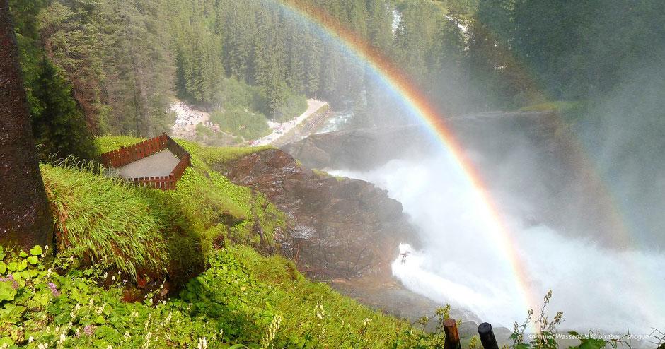 Größter Wasserfall Österreichs, Größte Wasserfälle Alpen, Krimmler Wasserfälle, Wasserwandern Westösterreich, Geheimtipp, Wandern und Einkehren, Aussichtspunkt Wasserfall