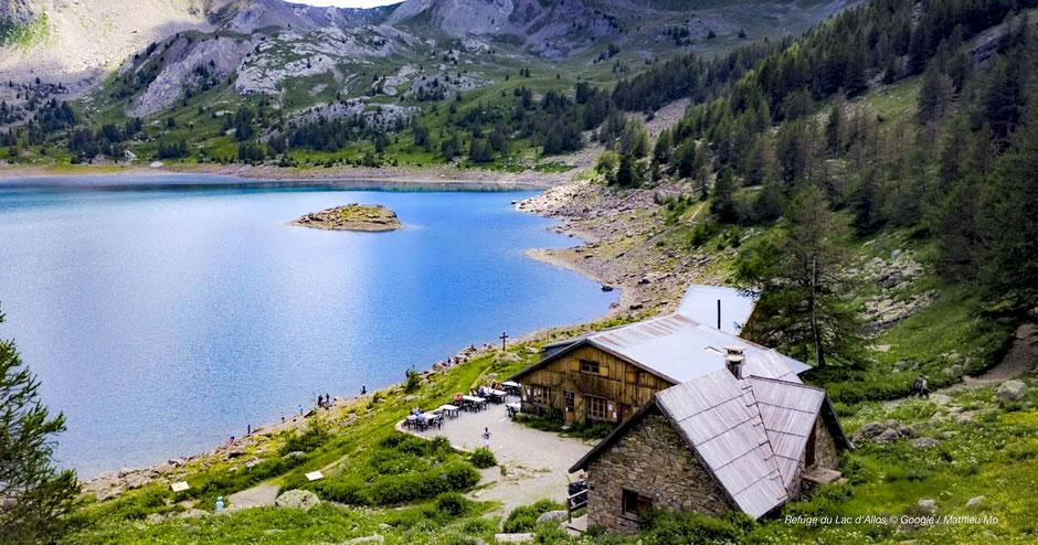 Einkehren am Lac d'Allos im Refuge du Lac d'Allos und Unterkunft