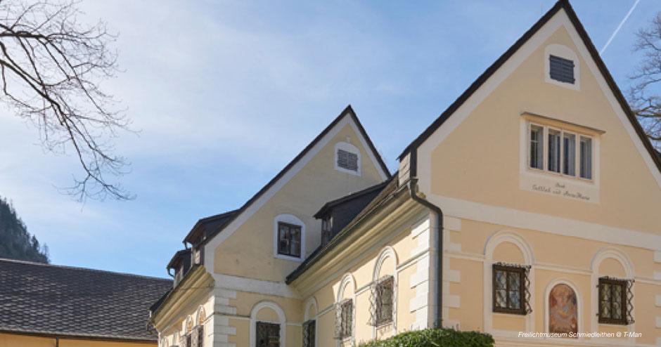 Schmiedleithen, Sensenschmiede, Oberösterreichisches Freilichtmuseum, Nationalpark Kalkalpen, Schönbrunn-Stil, Leonstein