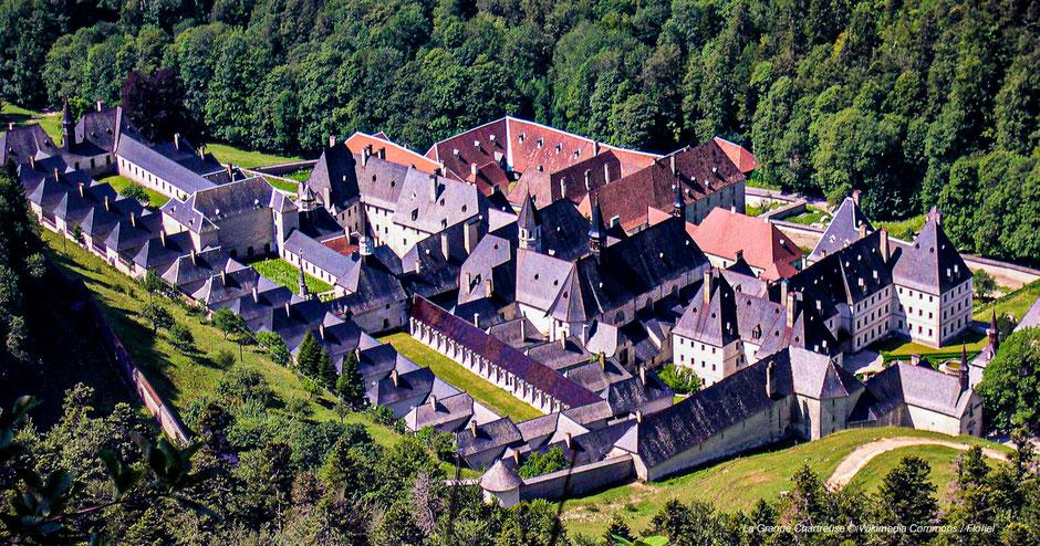 Klöster in Frankreich, Abteien, Französische Alpen, La Grande Chartreuse, Kartäuserorden in den Alpen, Kloster bei Grenoble, imposantes Kloster