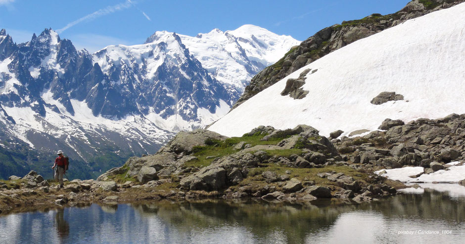 Wandern am Lac Blanc in Chamonix - Hiking at Lac Blanc in Chamonix