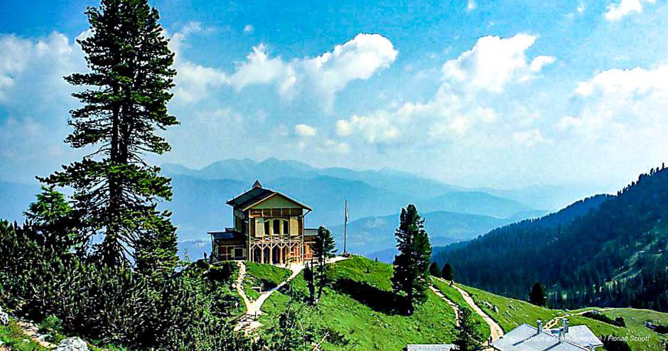 Königshaus auf dem Schachen, Königsschlösser, Garmisch-Partenkirchen, Schachen Schloss, Königsschloss Werdenfelser Land, Schloss Zugspitze