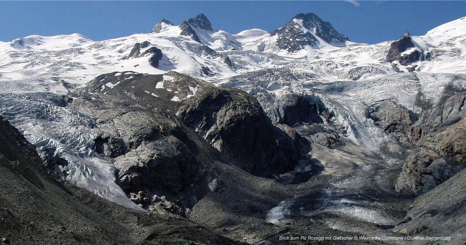 Vadret da Roseg, Sellagletscher, Gletscher in Pontresina, Oberengadin Gletscher, Glacier Engadin, Ostschweizer Gletscher, Glacier Panorama St. Moritz, St. Moritz Glacier, Bernina Express Glacier, Gletscherbahn, Glacier Train, Glacier Express Rosegg