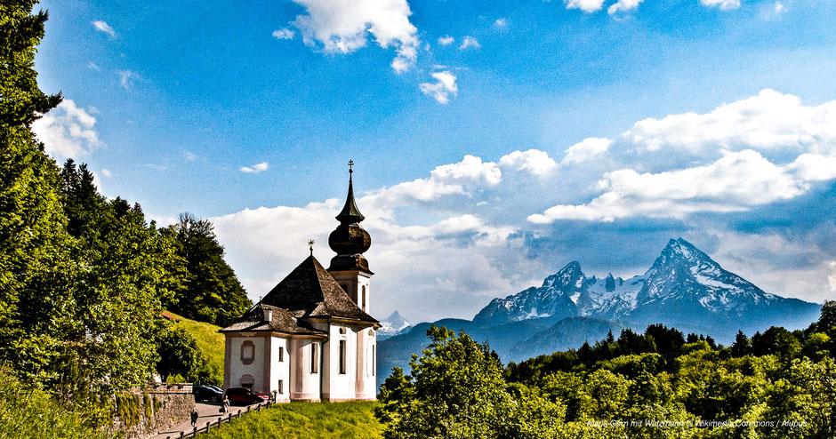 Wandern nach Maria Gern mit Watzmann-Panorama - Hiking with Watzmann-Views