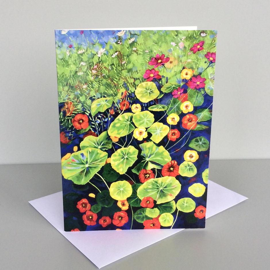 nasturtiums art card