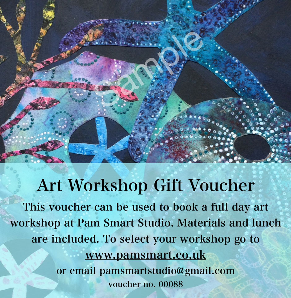 art workshop gift voucher