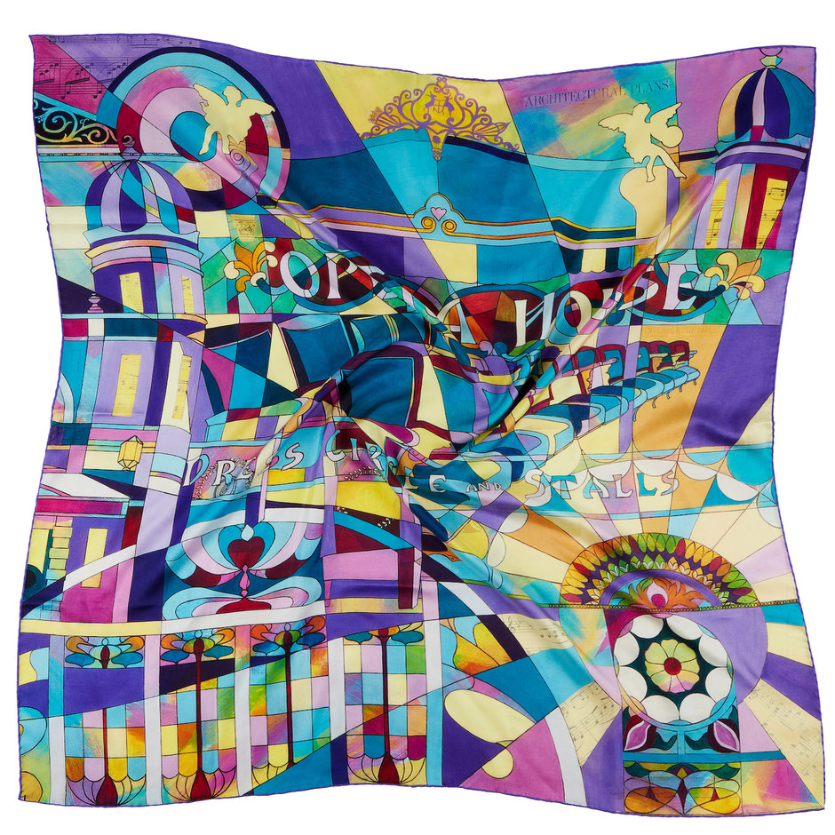 Winter Glow cotton lampshade