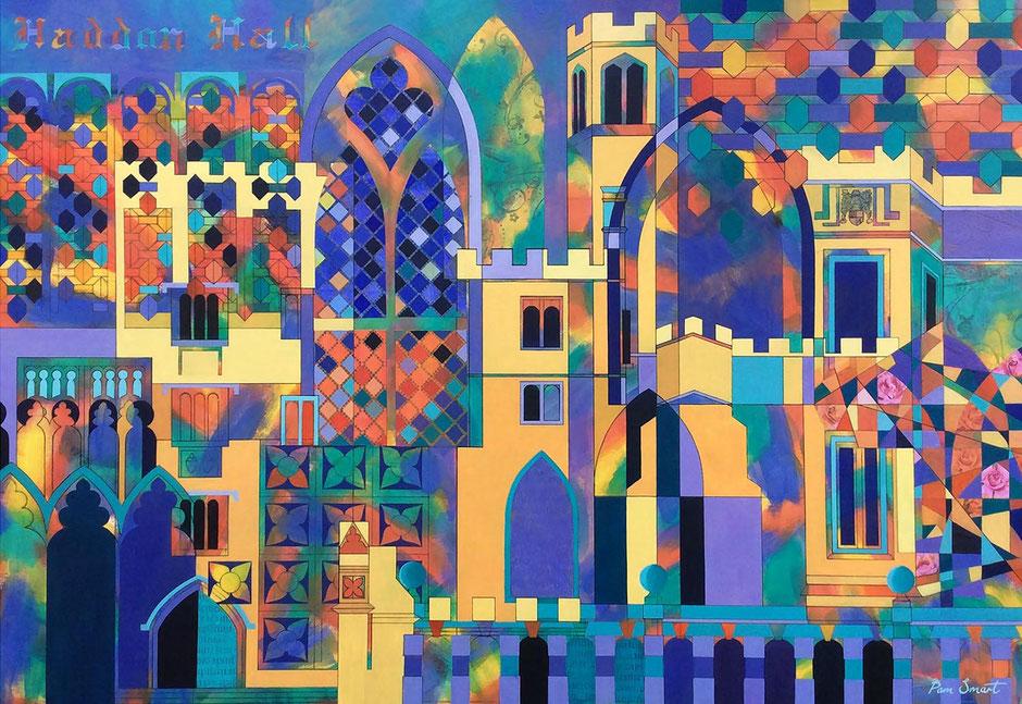 haddon harlequin hall vibrant abstract art