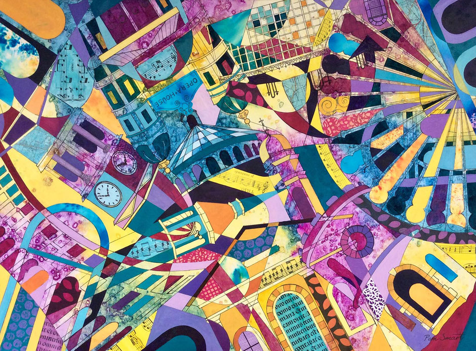 buxton landmark colourful abstract art