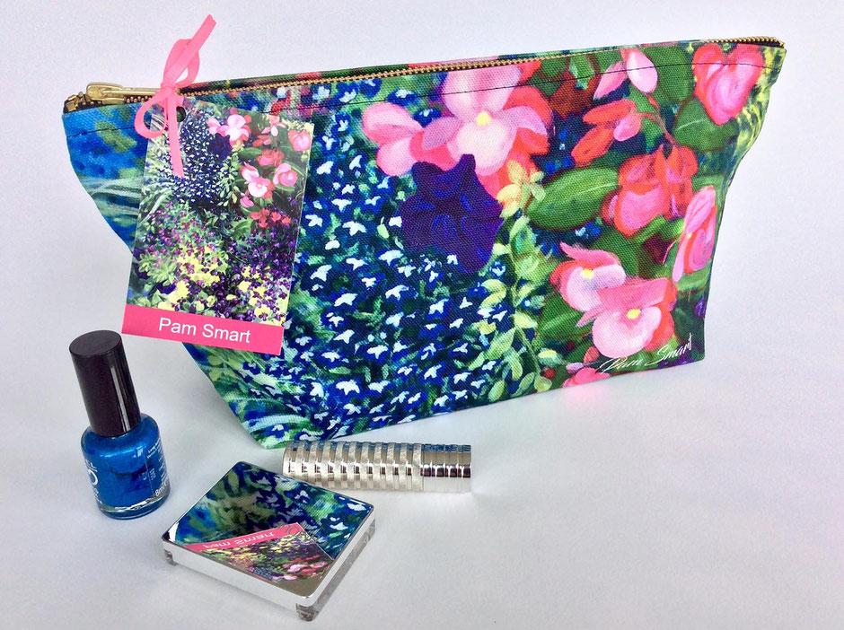 floral cotton zip bags