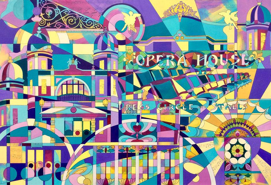 vibrant abstract art buxton opera house