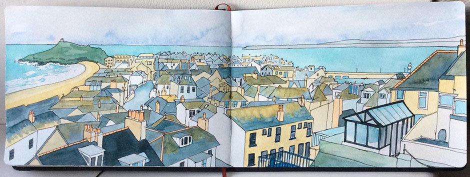 watercolour sketchbook