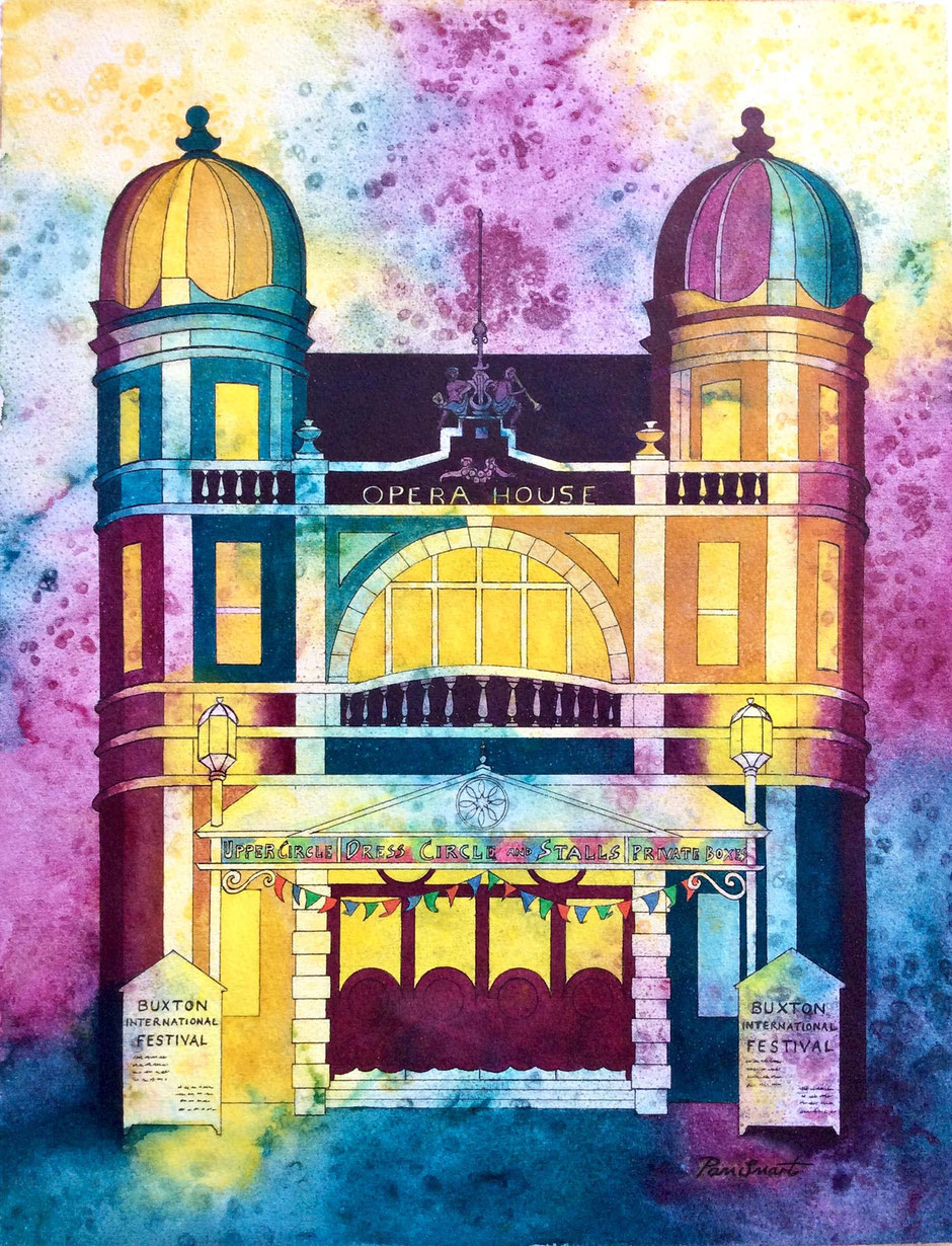 colourful buxton opera house art print