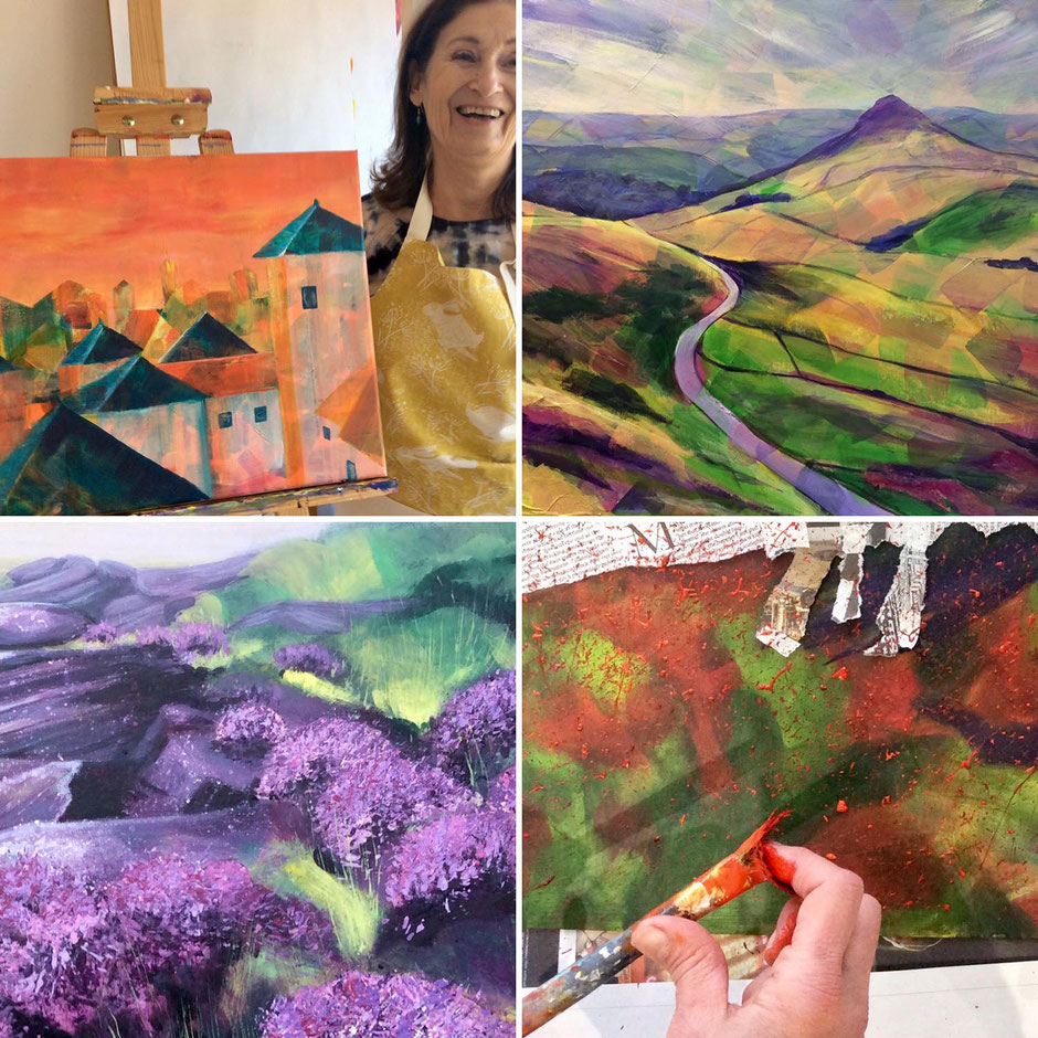 acrylics painting workshop expressive landscapes