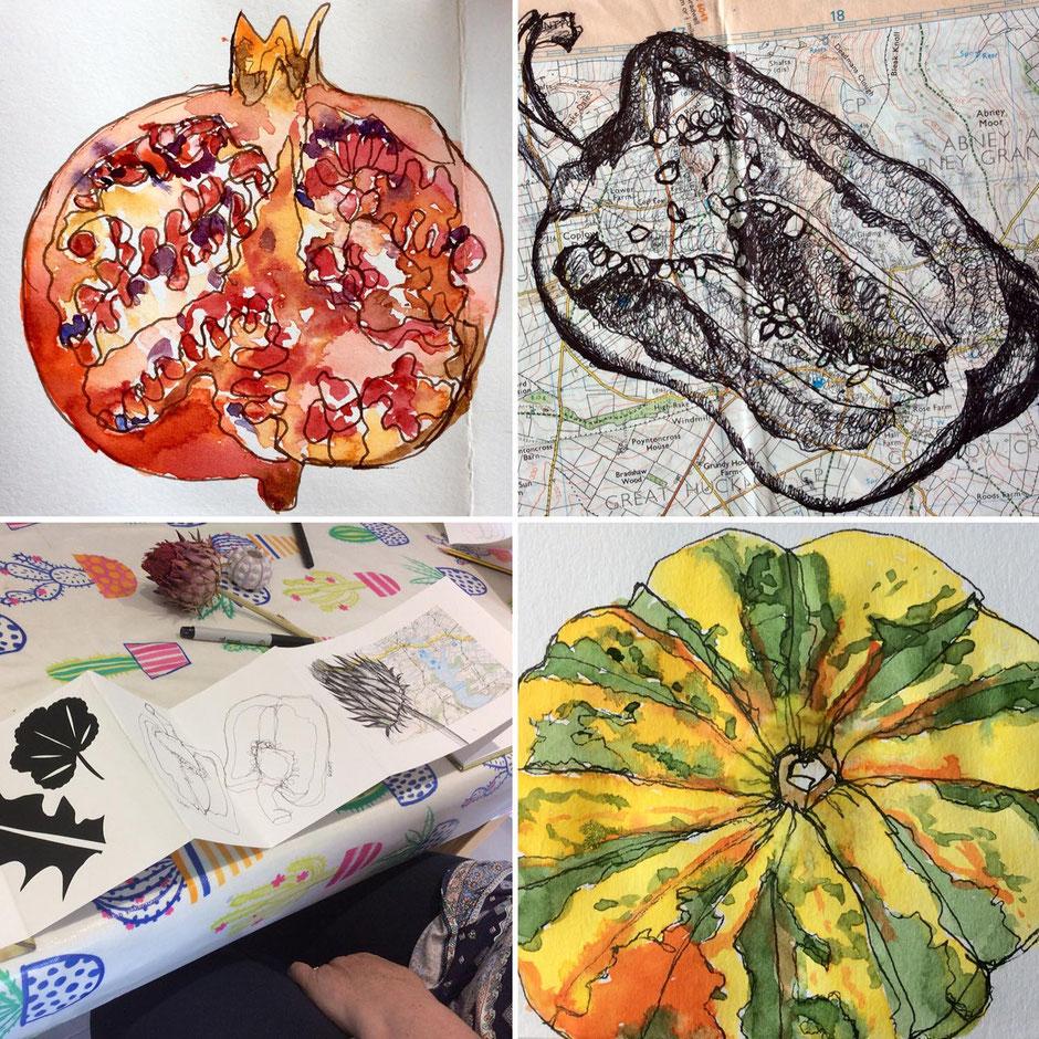 autumn sketchbook art workshop buxton derbyshire