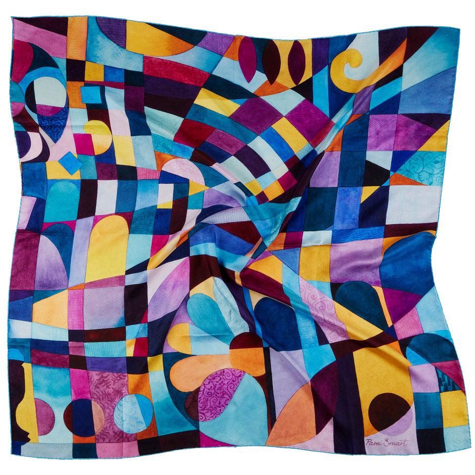 Hydrangeas colourful cotton lampshade