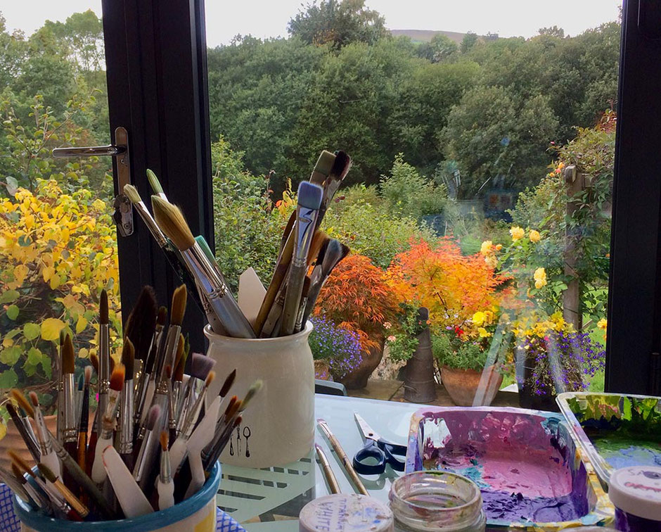 view from my artist studio