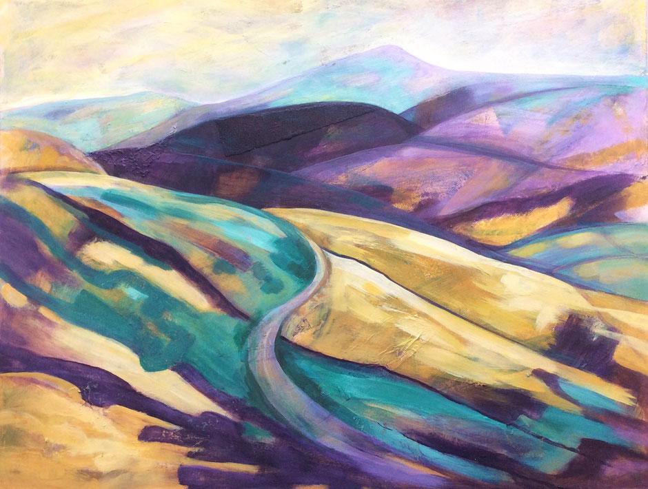 Shuttlingsloe moorland painting