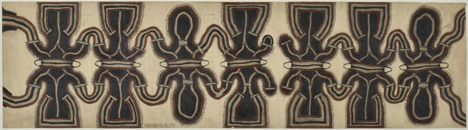 o.T., 2000, Zeichnung, Bleistift und Buntstift auf Papier, 20,5 x 75,5 cm