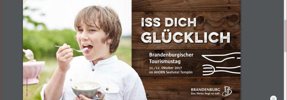 Deckblatt vom Flyer zum Brandenburgischen Tourismustag 2017 in Templin