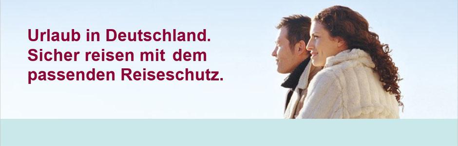 Urlaub in Deutschland mit Storno-Reiserücktrittskosten-Versicherung und Corona-Zusatz-Schutz Covid-19-Absicherung mit Quarantäne