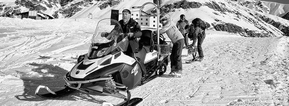 Bequemer Zustieg - Mit dem Skido zum Gletscher - Support durch die Illwerke